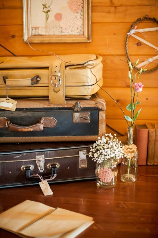 decoración interuor maletas viejas