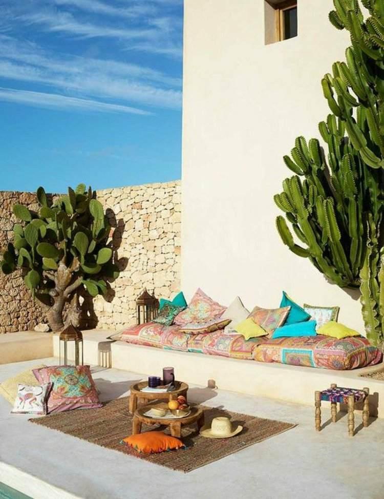 deco terraza estilo mejicano cactus