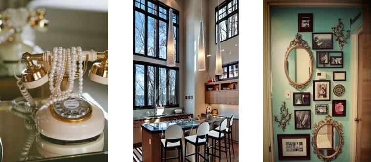 decoración interior estilo vintage
