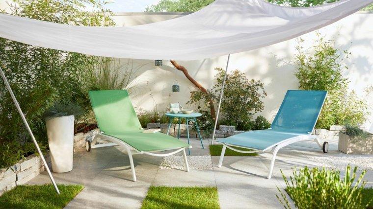 decoracion de terrazas diseño especiales muebles verdes