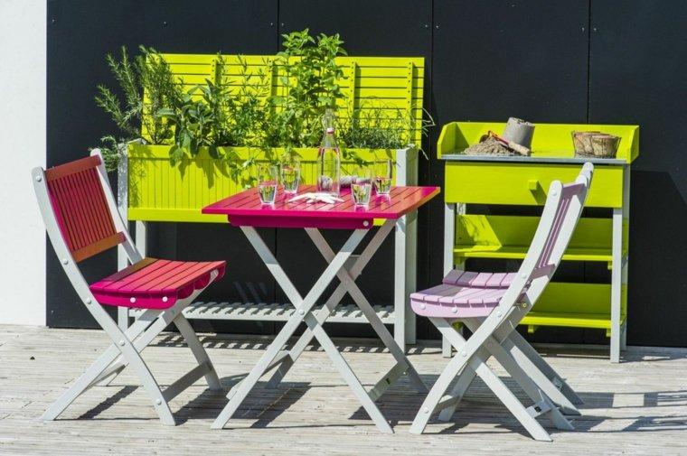 decoracion de terrazas diseño plrgables contrastes