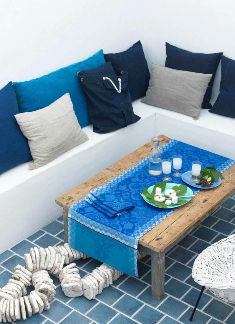 decoracion de terrazas diseño diseño rusticos cojines