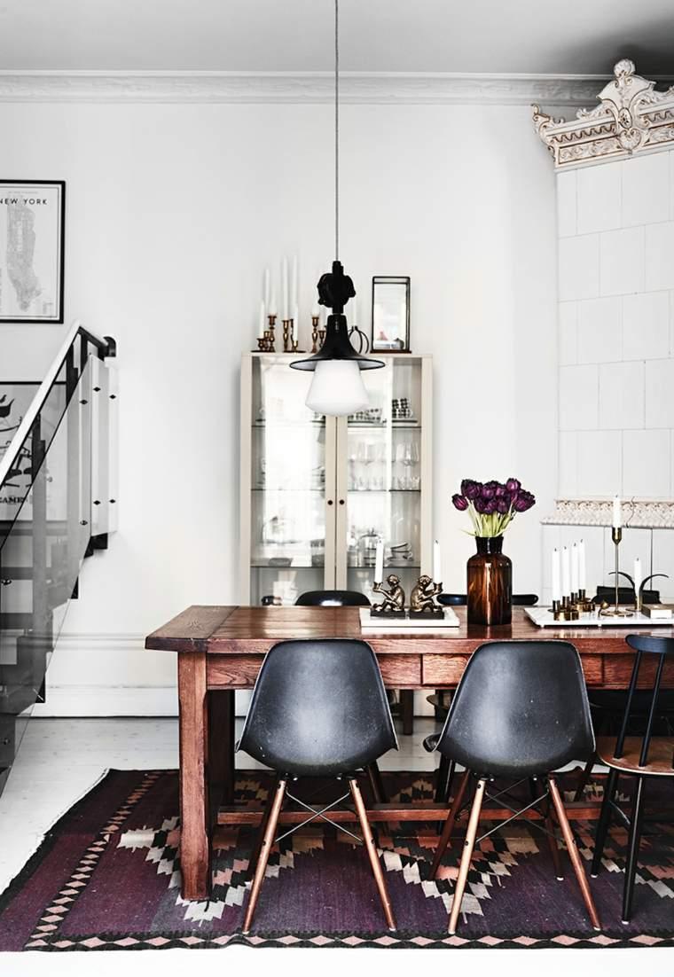 Decoraci243n estilo n243rdico e ideas de muebles : decoracion estilo nordico colores oscuros comedor from casaydiseno.com size 760 x 1102 jpeg 522kB