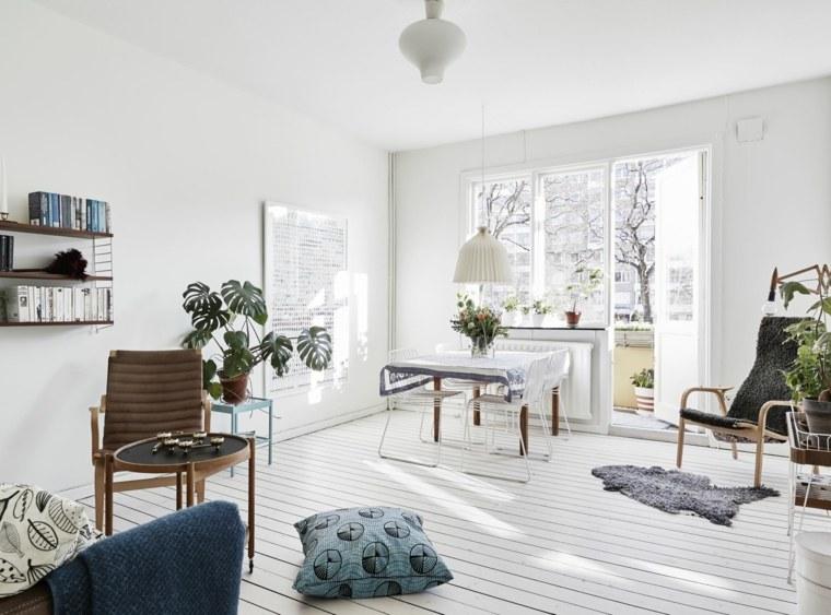 decoracion estilo nordico muebles plantas cojines suelo ideas