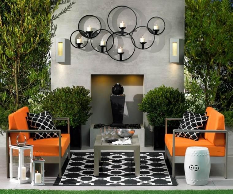 decoracion exterior agradables muros naranja
