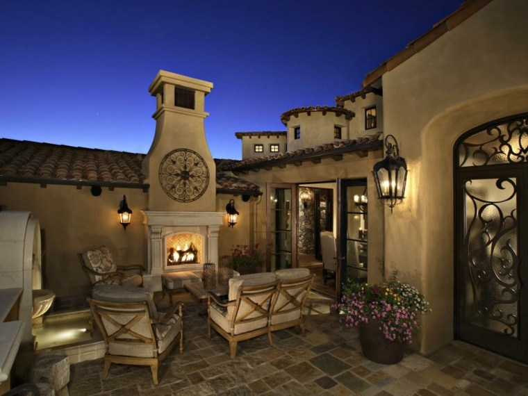 decoracion exterior calidos efectos relojes