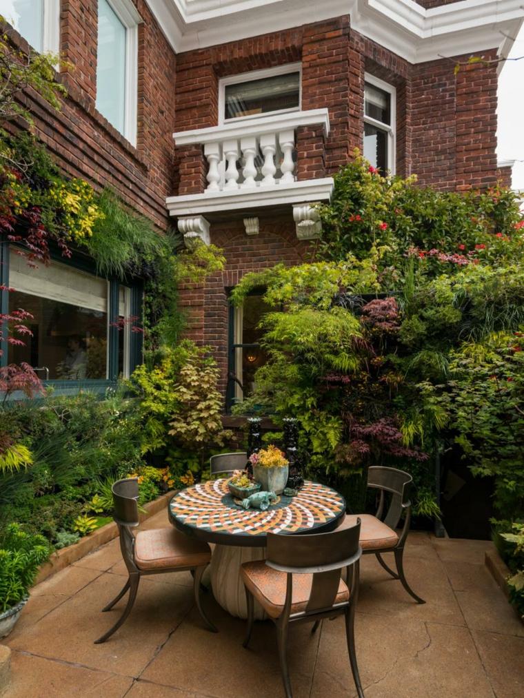 decoracion exterior funcionales muros flores