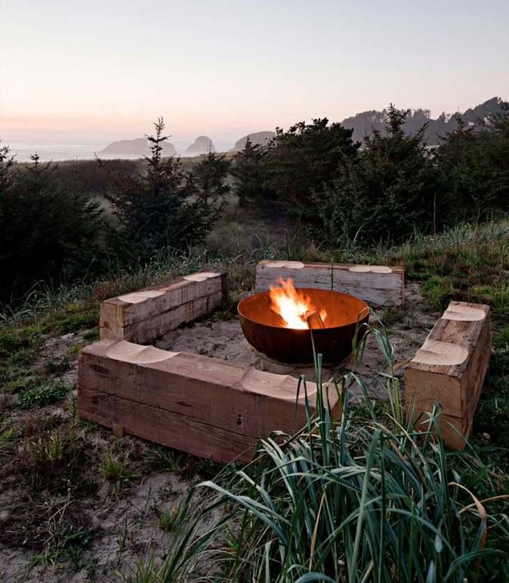 decoracion fuego hierbas salones exteriores