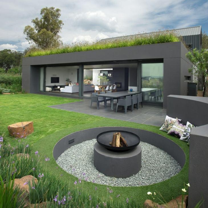 decoracion fuego modernos conceptos naturaleza grises