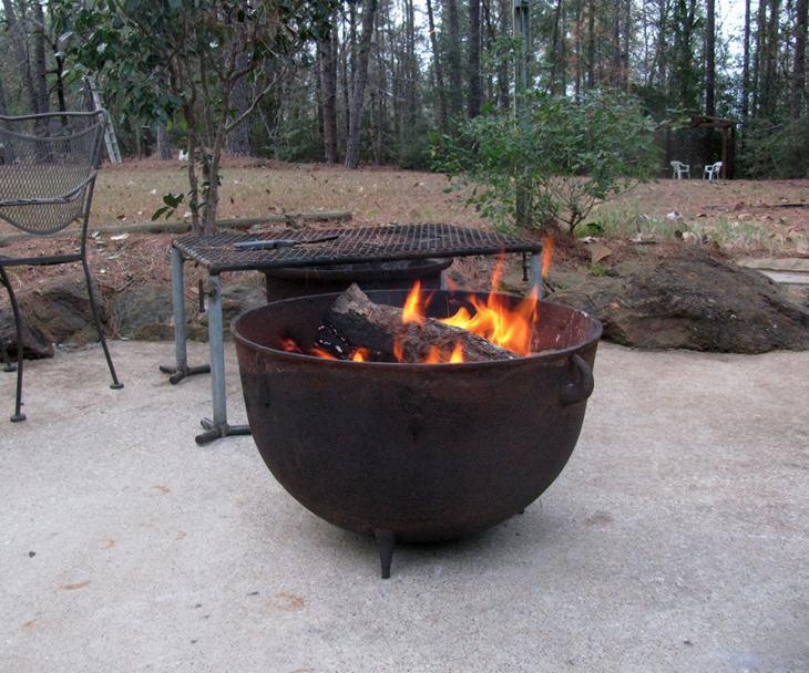 decoracion fuego sillones exteriores leña