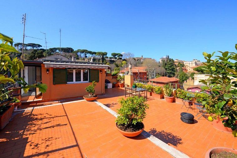 decoracion terraza atico diseno macetas plantas ideas