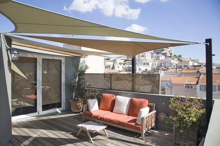 decoracion terraza atico diseno sombra opciones ideas