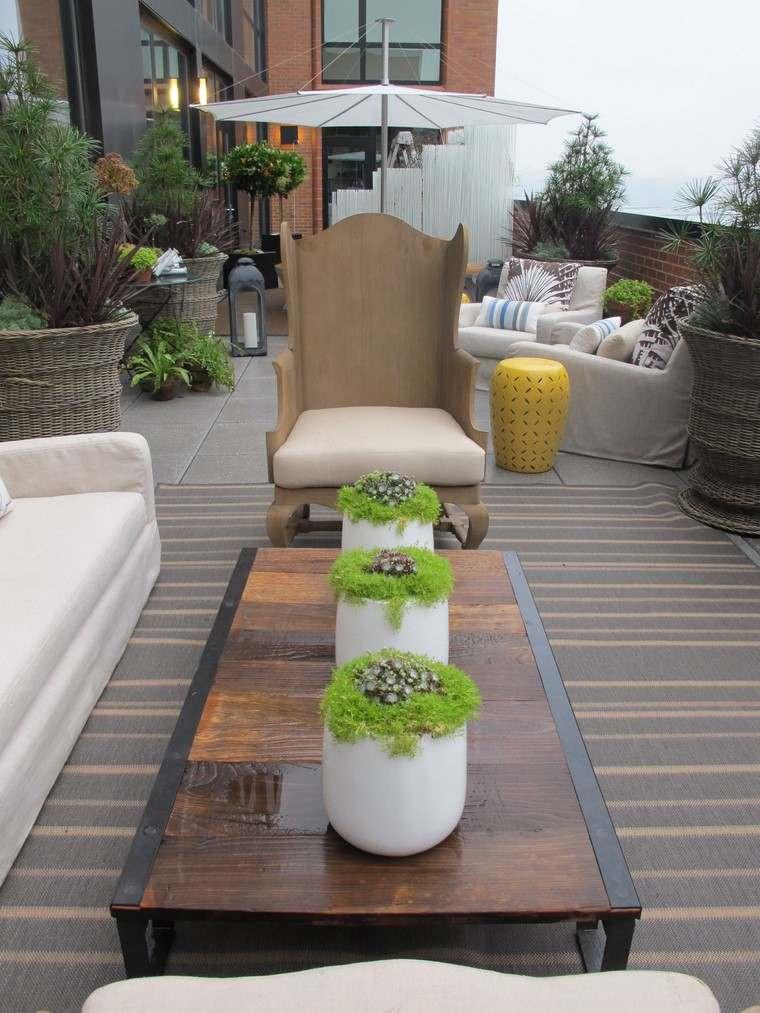 decoracion terraza diseno lugar descanso suelo madera ideas