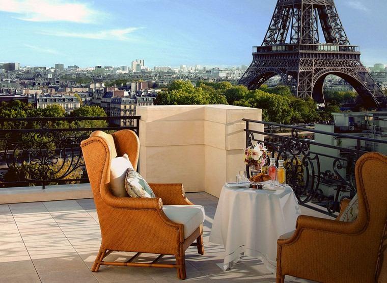 decoracion terraza diseno sillones comodos mesa pequena ideas