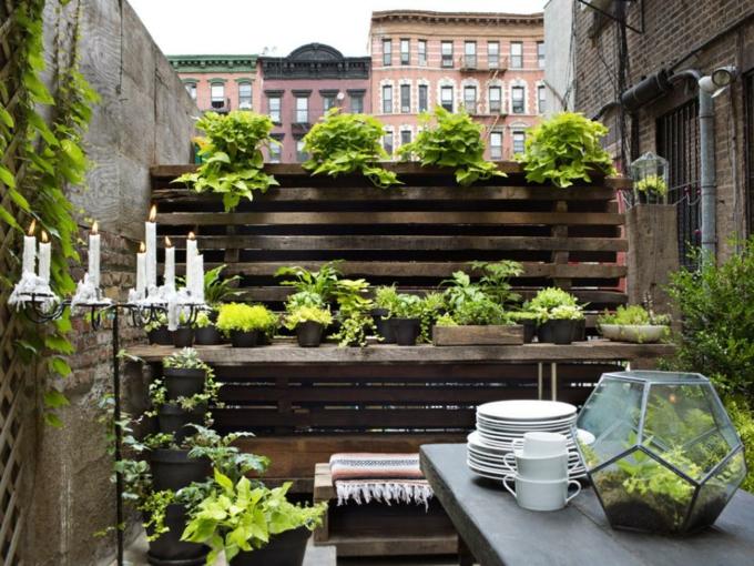 decoracion terrazas pequeñas impresiones comedores