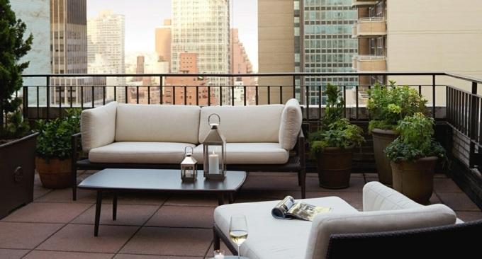 decoracion terrazas pequeñas muebles exteriores sillones