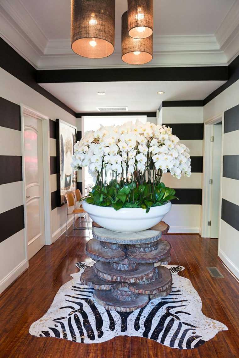 decoracion vintage diseno maceta enorme entrada casa ideas