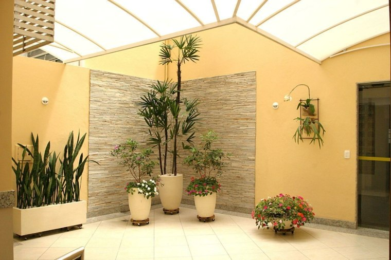 decorar con plantas opciones macetas mismo color crema ideas