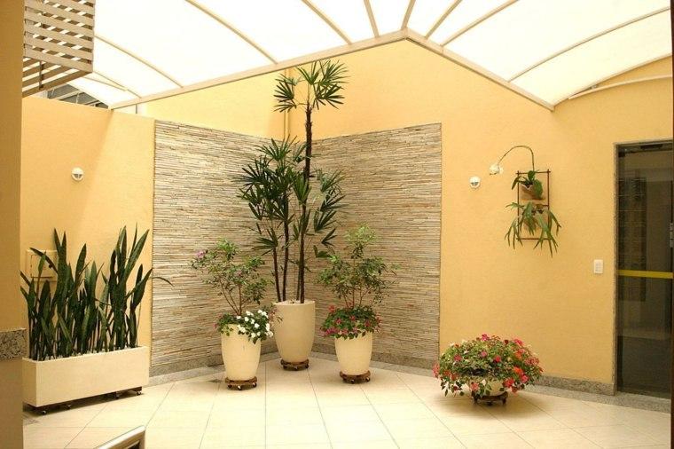 decorar con plantas opciones macetas mismo color crema ideas