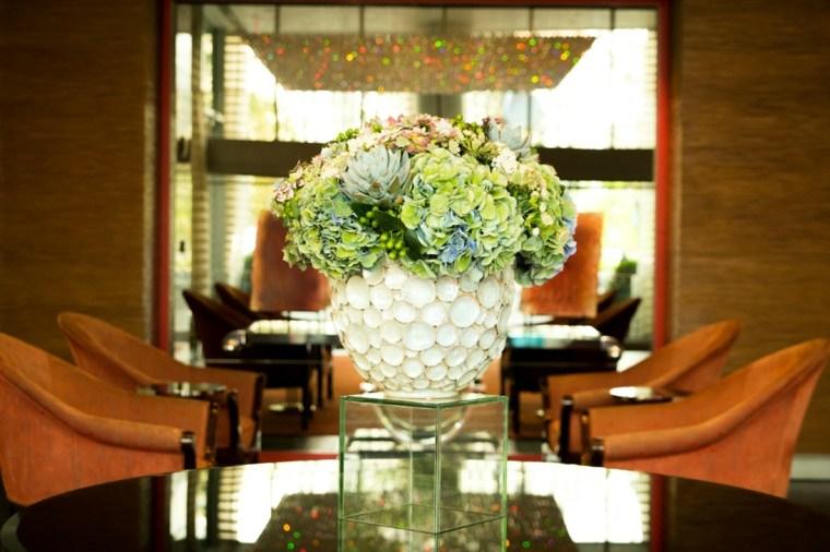 decorar con plantas opciones mesa maceta opciones ideas