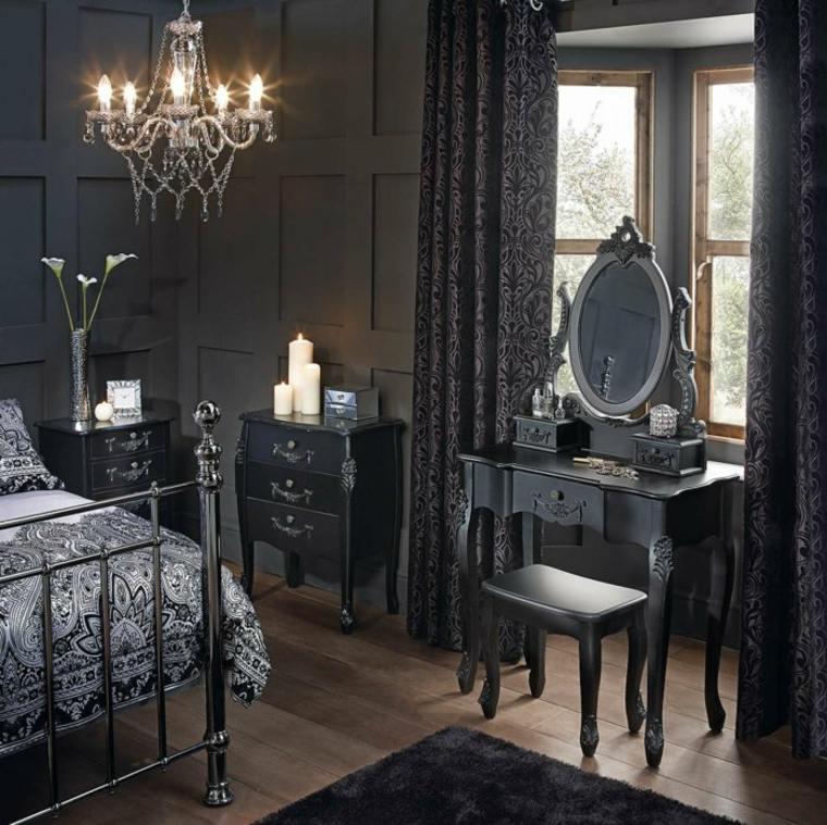 diseño decoración vintage negro