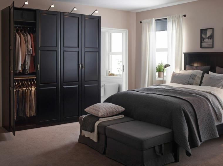 diseño dormitorio armario negro