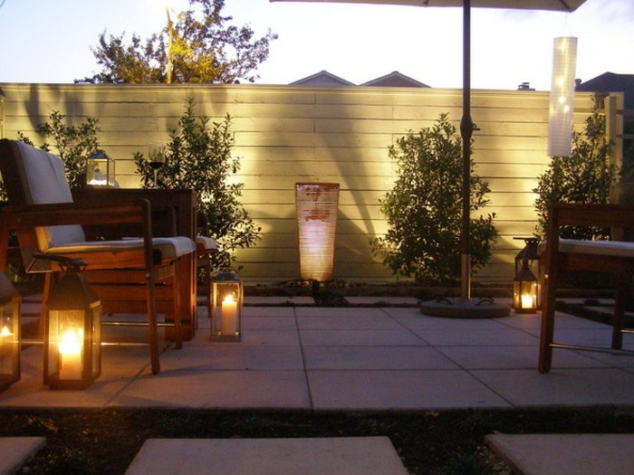 diseño economico estantes exteriores patio fuentes
