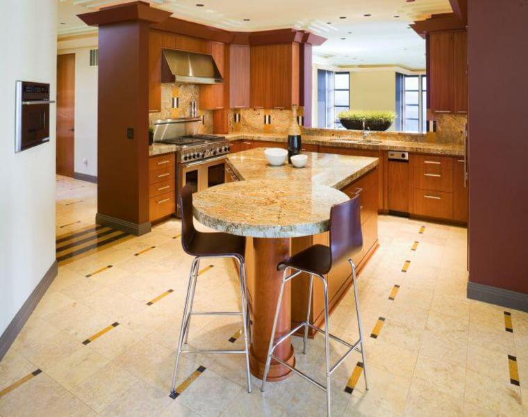 diseño original isla cocina forma