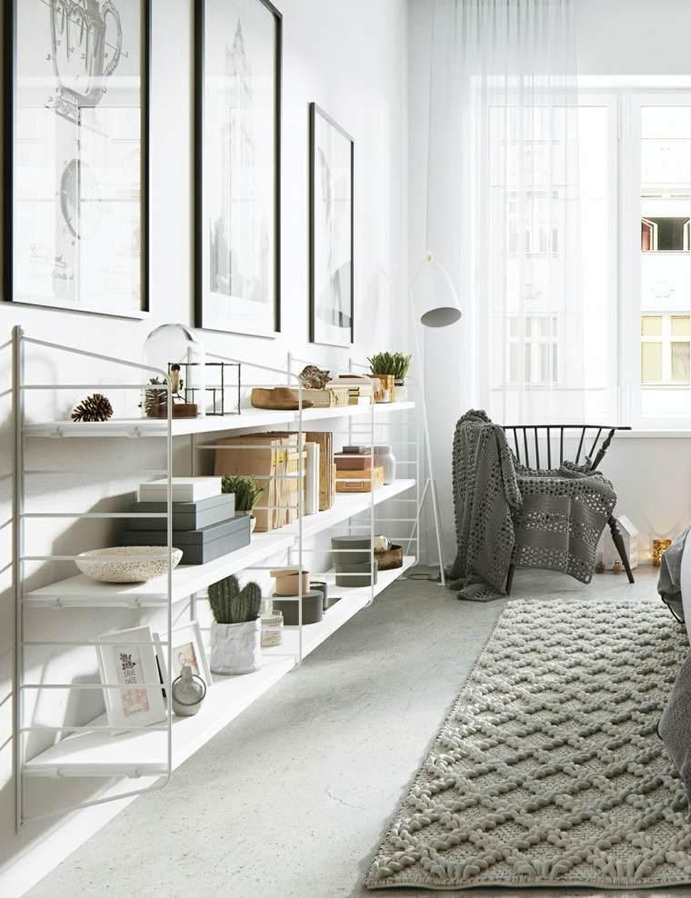 Estilo escandinavo en la decoraci n del hogar - Estanterias diseno pared ...