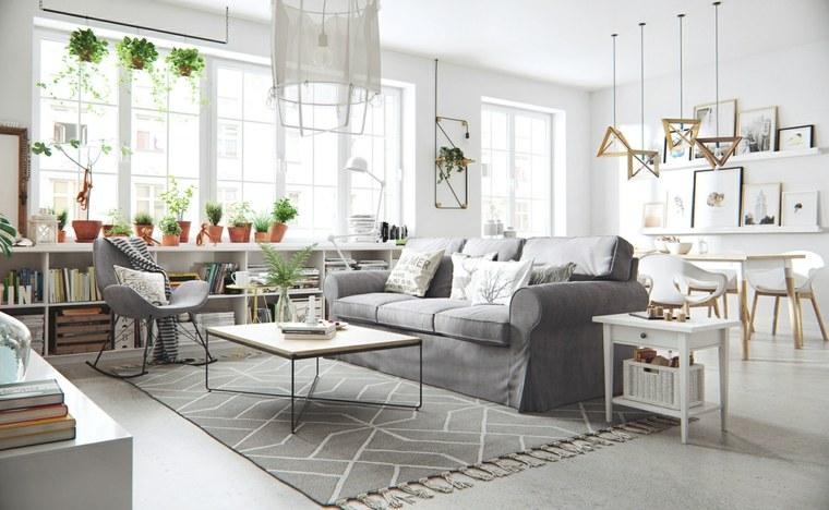 diseno escandinavo interiores lamparas muebles diseno ideas
