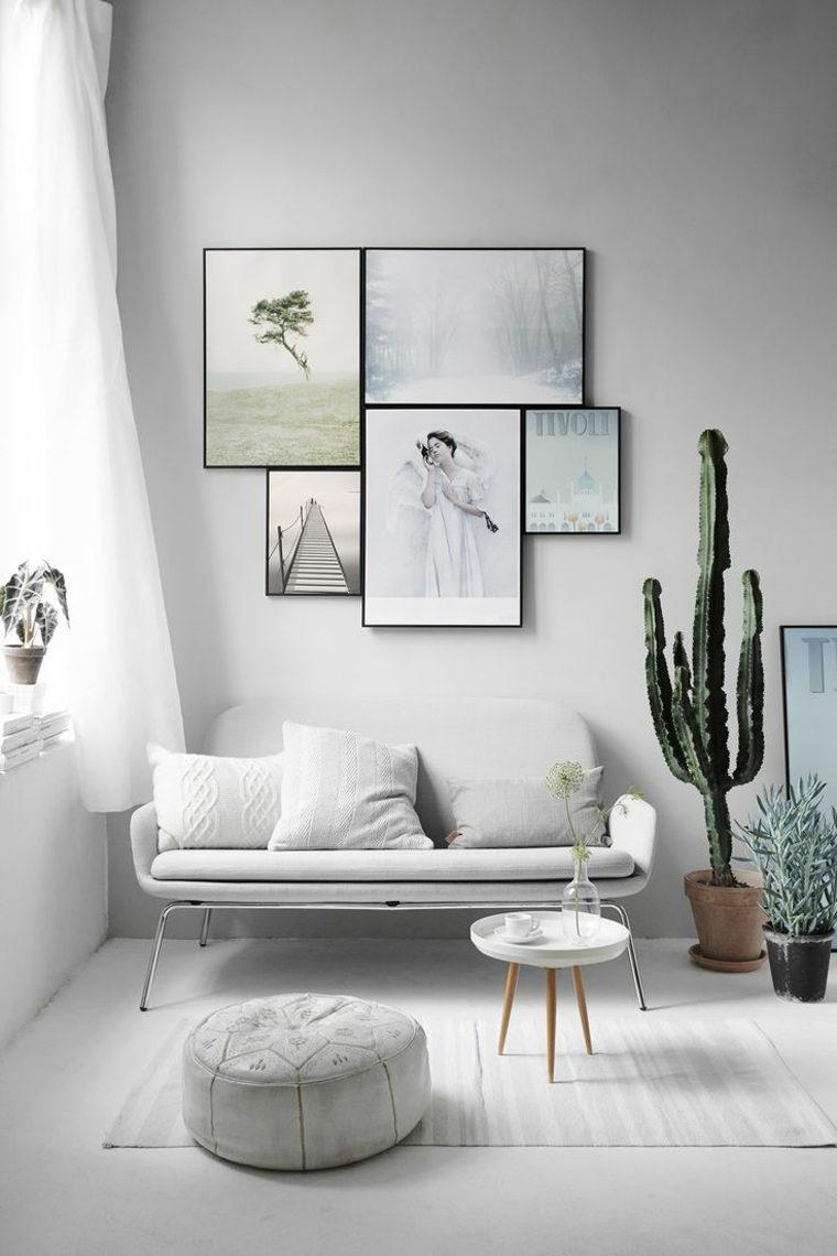 diseno escandinavo interiores macetas plantas ideas