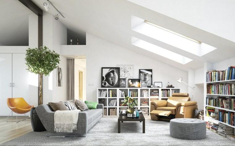 diseno escandinavo interiores salon amplio moderno ideas