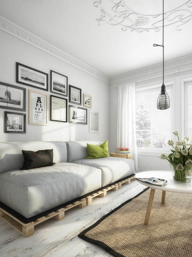 diseno escandinavo interiores sofa palets ideas
