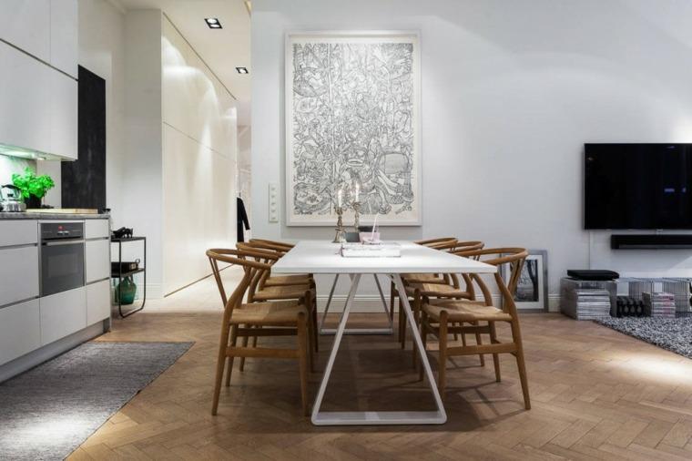 Decoraci n estilo n rdico e ideas de muebles for Comedor escandinavo
