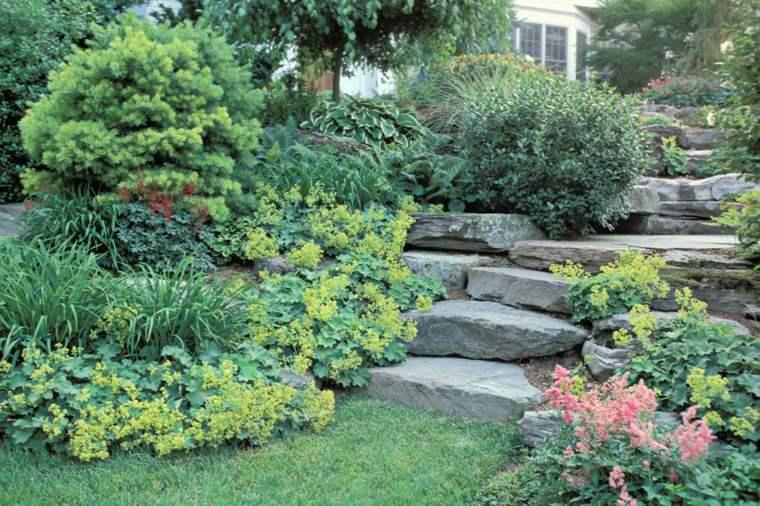 diseno jardin escaleras piedra