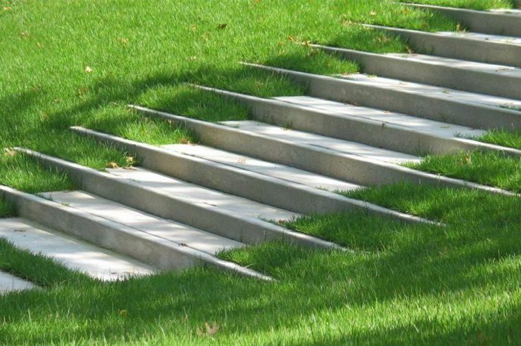 diseno jardín moderno escaleras jardin
