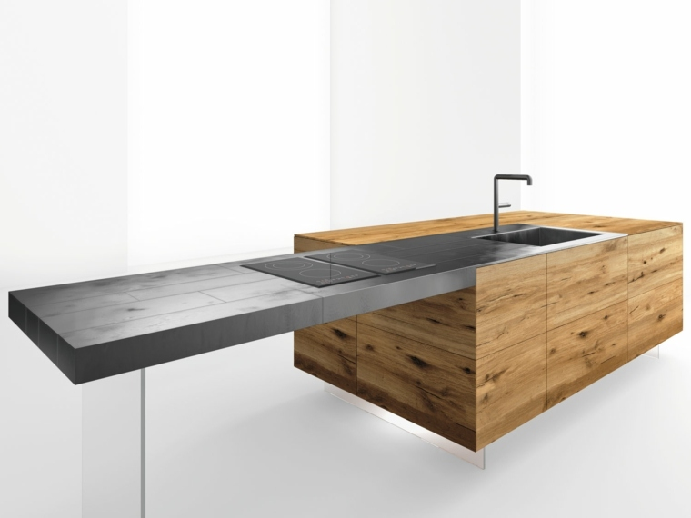 diseno moderno cocina encimera isal