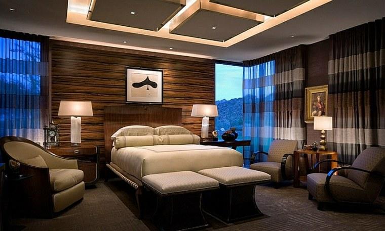 dormitorios diseno iluminacion techo original ideas
