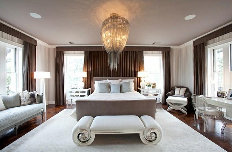dormitorios originales combinacion lamparas pie lampara techo ideas
