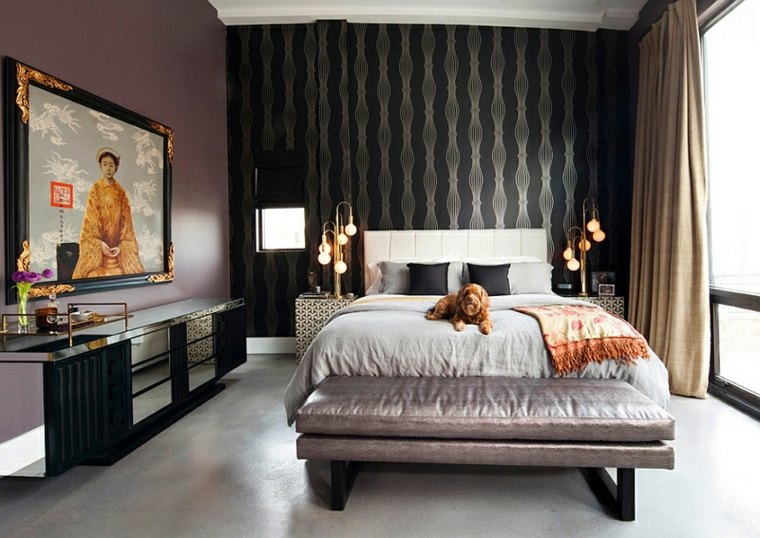 dormitorios originales diseno estilo oriental industrial combinacion ideas