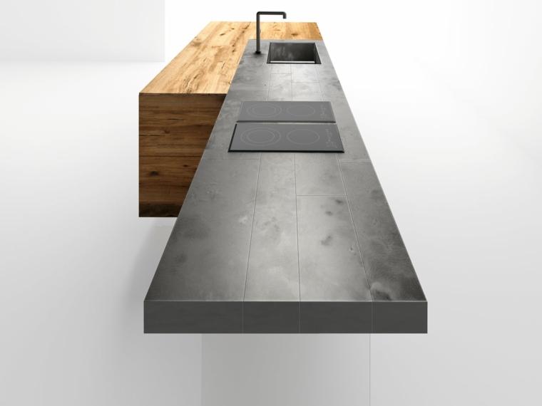 encimera modelo steel lago