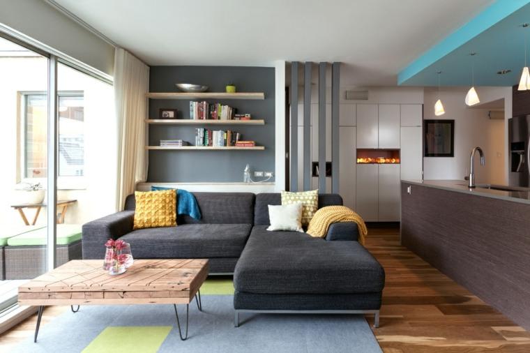 espacios abiertos salon cocina urbano ideas