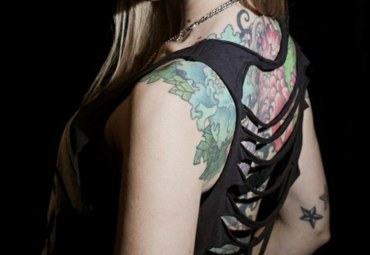 espalda tatuajes para mujeres