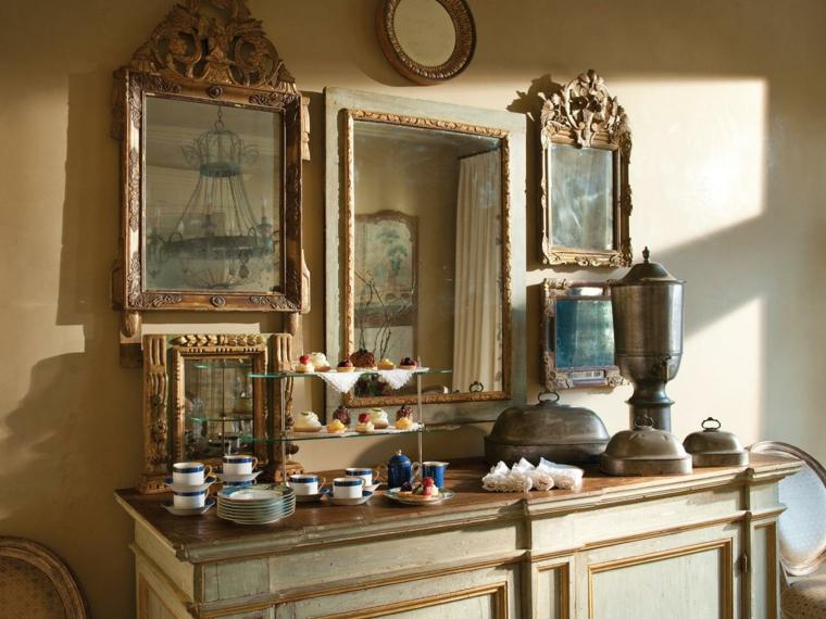 Espejos De Decoracion En Chile ~ Conjunto de espejos con marcos de estilo vintage