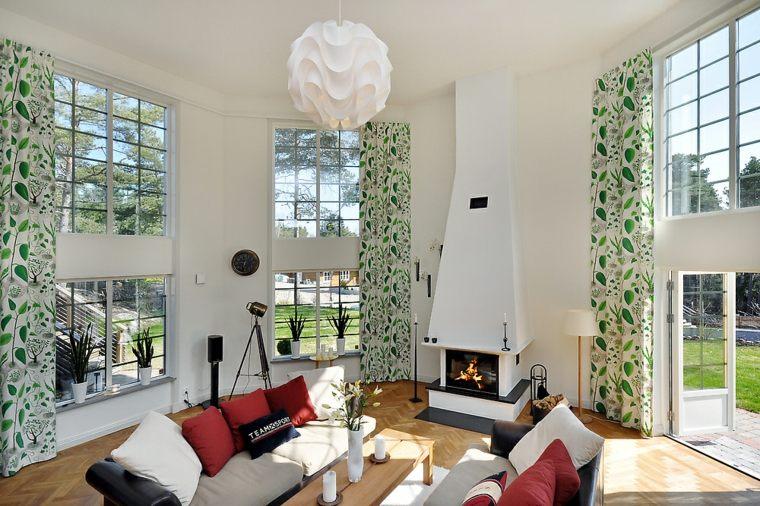 Diseños de cortinas modernas para sala de estar