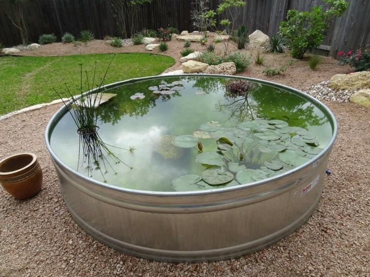 estanques de jardin opciones aire libre acero ideas