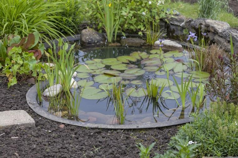 estanques de jardin opciones aire libre pequeno bonito ideas