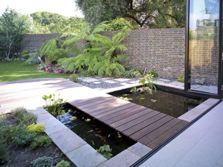 estanques de jardin opciones aire libre puente ideas
