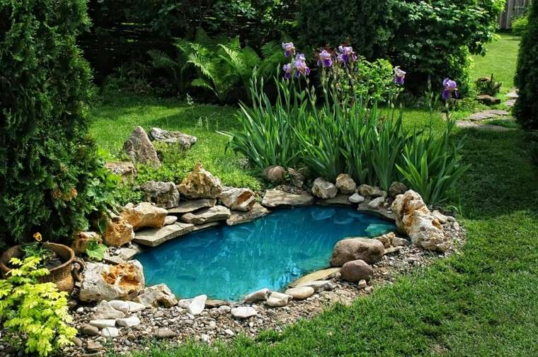 estanques jardin opciones aire libre cesped plantas ideas