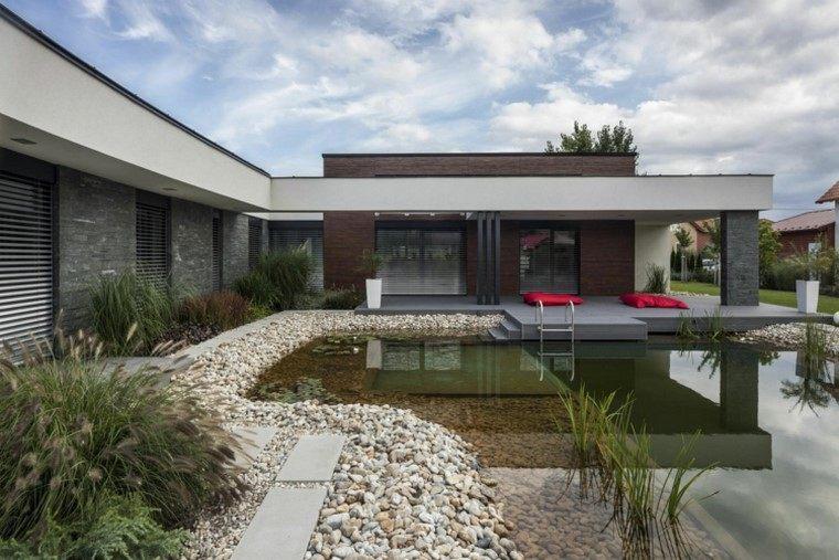 estanques jardin opciones aire libre estanque grande ideas